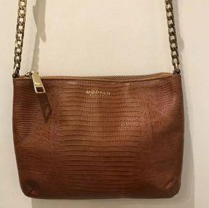 Modalu Carmel Leather Crossbody Bag